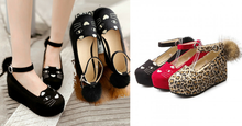Load image into Gallery viewer, Black/Red/Leopard Print Lolita Kitty Shoes SP164824 - SpreePicky  - 2