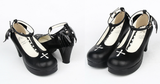 Black Angell Wing And Cross Lolita Princess Shoes SP154045 - SpreePicky  - 2