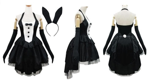 Black Gorgeous Forked Tail Bunny Dress Cosplay Costume SP153688 - SpreePicky  - 2