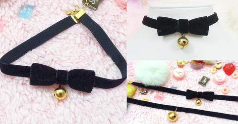 Black Kawaii Cosplay Bracelet/Choker SP164994