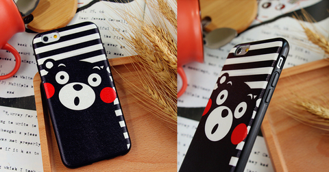Black Kawaii Kumamon Iphone Phone Case SP165367
