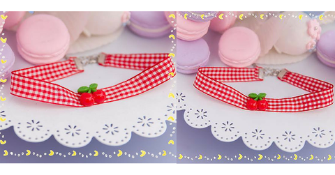 Cherry Ribbon Choker SP153787 - SpreePicky  - 2