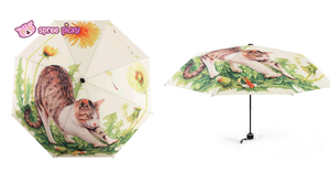 Daisy Kitty Sun-Rain 3 Fold Umbrella SP153343 - SpreePicky  - 2