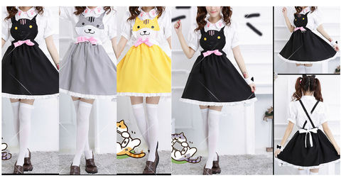 Grey/Yellow/Black Cutie Kitty Dress SP154458 - SpreePicky  - 2