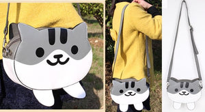 Neko Atsume GreyCat PU Bag SP164825 - SpreePicky  - 2