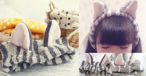 Kawaii Neko Cat Ear Fleece Hair Band For Make Up SP164904 - SpreePicky  - 2