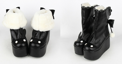 Kawaii Rabbit Ear Lolita Short Boots SP164970 - SpreePicky  - 2