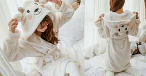 Kawaii Sheep Fleece Hoodie Pajamas Coat SP164912 - SpreePicky  - 2