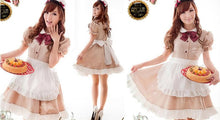Load image into Gallery viewer, Khaki Coffee Cafe Maid Dress SP141205 - SpreePicky FreeShipping