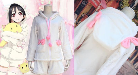 [Love live] Nico Yazawa Fluffy Bunny Coat and Shorts [Set] SP153597 - SpreePicky  - 3