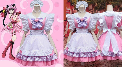 M-L Pinky Candy Neko Cat Maid Dress  Cosplay Costume SP153589 - SpreePicky  - 2