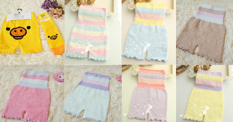 Pastel Fleece High Waist Warming Shorts SP164918 - SpreePicky  - 2