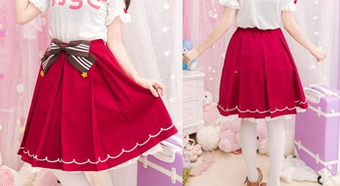Red Kawaii Strawberry Skirt SP153809 - SpreePicky  - 2