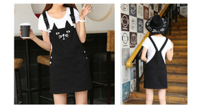 S-3XL Black Cutie Neko Kitty Cat Suspender Dress SP153320 - SpreePicky  - 2