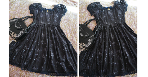 S-L Black Lolita Dress SP164984 - SpreePicky  - 2