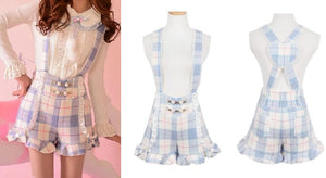 S/M/L Little Blue Fairy Suspender Shorts SP153627 - SpreePicky  - 4