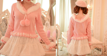 Load image into Gallery viewer, S/M/L Pinky Sweet Cutie Falbala Pullover Sweater SP154418 - SpreePicky  - 3