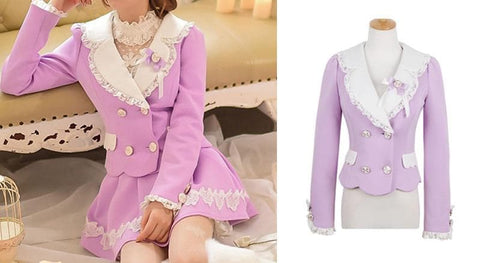 S/M/L Purple Elegant Coat SP153620 - SpreePicky  - 3