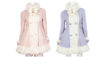 Load image into Gallery viewer, S/M/L [Reservation]Light Blue/Pink Winter Fluffy Fleece Coat SP154413 - SpreePicky  - 2