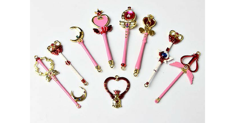 Sailor Moon Magic Wand Key Chain 9 Pieces SP164733 - SpreePicky  - 2
