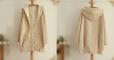 Sweet Spring Knitted Thin Loose Coat SP154018 - SpreePicky  - 2