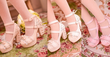 Load image into Gallery viewer, White/Pink/Apricot Elegant Lace High-heel Shoes SP165145