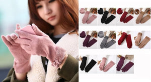 Winter Woolen Gloves With Touch Phone Screen Ability SP154063 - SpreePicky  - 2