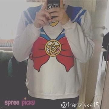 [M/XL]Sailor Moon Sweater Fleece Jumper SP130203 - SpreePicky  - 10