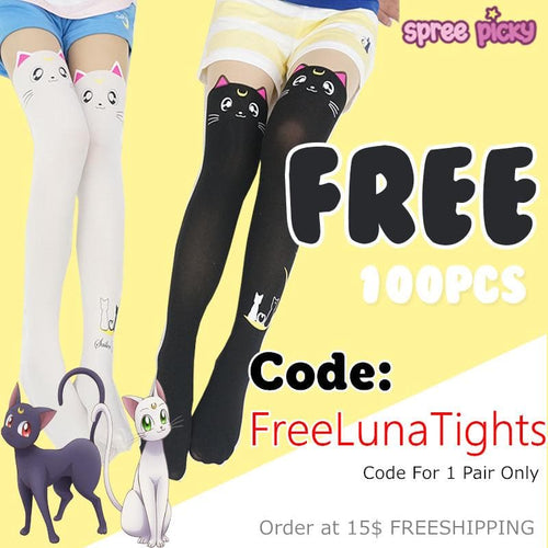 Gift! Sailor Moon Luna Artemis Kitten Tights SP141305