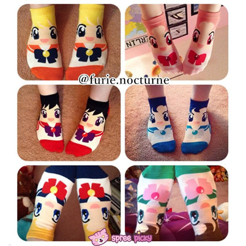 6 Colors Sailor Moon Series Cotton Socks SP151896