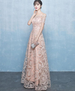 Elegant Champagne Tulle Long Prom Dess, Evening Dress - DelaFur Wholesale