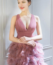 Load image into Gallery viewer, Cute V Neck Short Prom Dress, Homecoming Dress - DelaFur Wholesale
