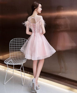 Cute Lace Short Prom Dress, Cocktail Dress - SpreePicky FreeShipping