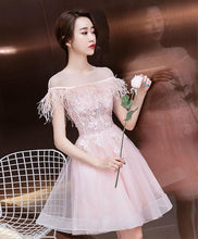 Load image into Gallery viewer, Cute Lace Short Prom Dress, Cocktail Dress - SpreePicky FreeShipping