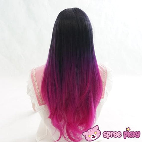 "Fashion! 3 Colors Gradual Hot Pink Wig 65cm/25.59"" SP151678 - SpreePicky  - 11"
