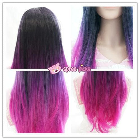 "Fashion! 3 Colors Gradual Hot Pink Wig 65cm/25.59"" SP151678 - SpreePicky  - 13"