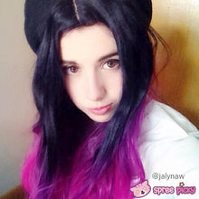 """Load image into Gallery viewer, 3 Colors Gradual Hot Pink Wig 65cm/25.59"""" SP151678 - SpreePicky FreeShipping"""