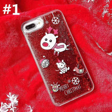 Load image into Gallery viewer, Kawaii Paillette Xmas Deer Phone Case SP13233