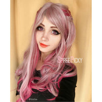 Gradual Change Pink Lolita Long Curly Wig SP178696