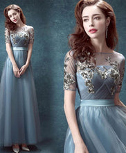 Load image into Gallery viewer, Elegant Tulle Sequins Long Prom Dress, Evening Dresses - Harajuku Kawaii Fashion Anime Clothes Fashion Store - SpreePicky