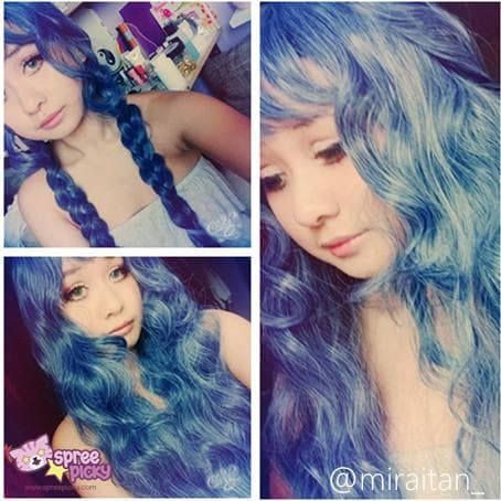 Lolita Mermaid Dark Blue Wig SP165380