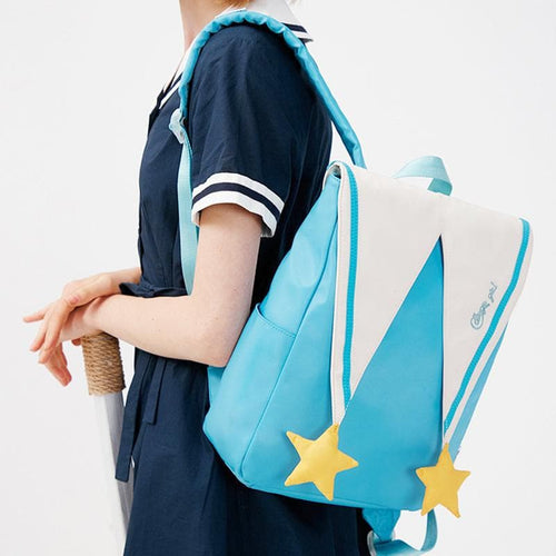 COLLEGE GIRL Letter Embroidery Star Sailor Backpack Schoolbag SS0983