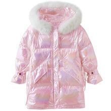 Load image into Gallery viewer, Rainbow Reflective Hooded Down Coat SP15460