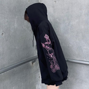 Embroidery JK Zipper Hooded Coat SP133