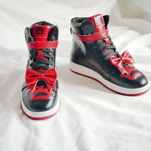 Load image into Gallery viewer, Lolita Love Heart Buckle Cat Claw Bowknot High Top Shoes SP15269