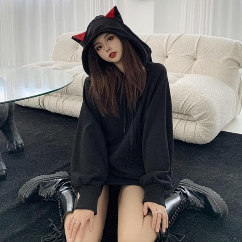 Cat Ears Oversized Hoodie SP15384