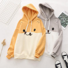 Load image into Gallery viewer, Hamster Print Color Block Hoodie SS0872