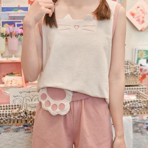 Pink Kawaii Vest Shorts Jacket SP15854