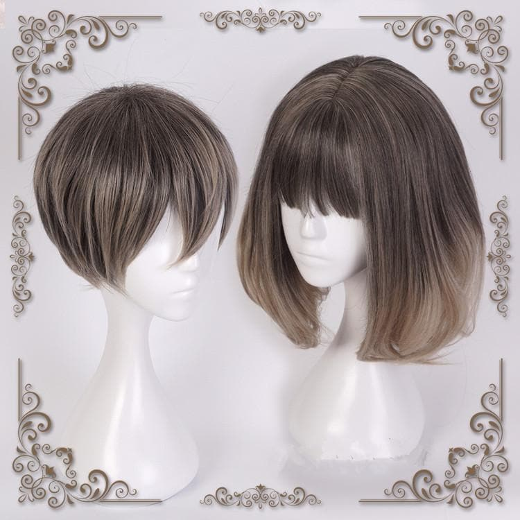 Lolita Dark Ash Flaxen Cosplay Short/Long Hair Wig SP166376