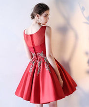 Load image into Gallery viewer, Cute Round Neck Lace Short Prom Dress, Evening Dress - DelaFur Wholesale